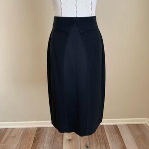 ESCADA Black Fitted Wool Pencil Skirt sz 38 US 8